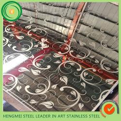 Горячая продажа 304 декоративных металлических листов из нержавеющей стали для интерьера