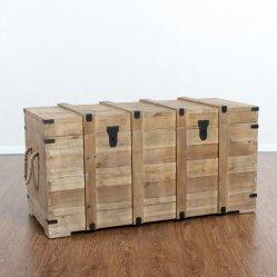 Abeto reciclado Vintage cajas de almacenamiento el tronco de madera