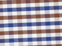 Brown/Controles de la Marina de hilo tejido teñido Shirting cómodo