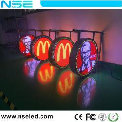 3D écran LED de plein air ronde Boîte à lumière signer
