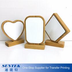 Сублимация пользовательский режим Picture Frame с магнитом подставку из естественной древесины рамка для фотографий в форме сердечка