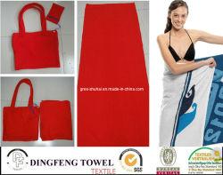 100% coton imprimé réactif de velours de sac à dos Serviette de plage