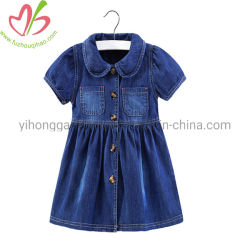 Les petites filles un morceau de coton jeans robe estivale décontractée