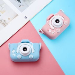 Nouveau HD 1080P Caméra numérique double pour les enfants Les enfants avec appareil photo appareil photo d'enfants affaire des caricatures Anniversaire Cadeau de Noël pour les enfants