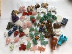 Juwelen van de Manier van Beadsfor van de Halfedelsteen van de Tegenhangers van het Hart Cabochon van het Punt en van het Malachiet van het Kristal van de fabriek de In het groot Halfedel Ovale de Levering voor doorverkoop van de Fabriek van de Levering