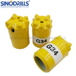 China 34mm 11 Grad-Kegelzapfen-Bohrgerät-Tasten-Bit für Bergbau