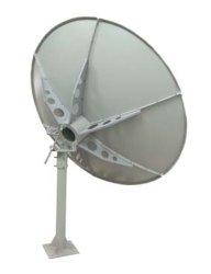 C Band 8 ft de plein air numérique plat de TV par satellite de l'antenne parabolique
