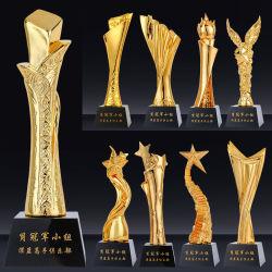 Or personnalisé de haute qualité trophée de cristal jeu de balle de Honor Award de la concurrence La concurrence de soccer de volley-ball des trophées