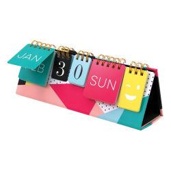 Kundenspezifischer Drucken-Entwurfs-unaufhörlicher Tischplattentisch-Kalender