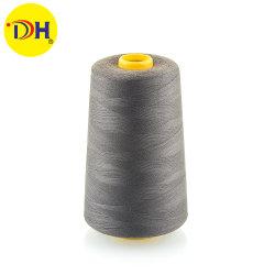 Vente d'usine de 100 % polyester à fils à coudre filé 60/3 5000y pour la meilleure qualité d'accessoires du vêtement