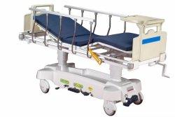 حزمة الاتصال الخشبية غير مطوية وسرير المستشفى المعدني تمديد المريض الهيدروليكي