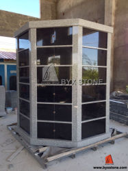 Columbarium Octagonal del granito del nero di figura dei 96 posti adatti