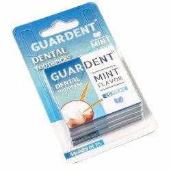 Guardentのつまようじの真新しい味25X4 (100つの) PCSのプラスチック包装