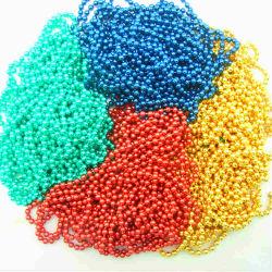 Chaîne à billes de couleur, NECKLACE, cordon en métal de couleur de la chaîne (KY)
