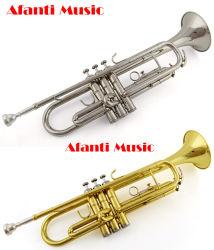 Trompet van de Lak van het Messing van de Muziek van Afanti de Gouden (atr-100)