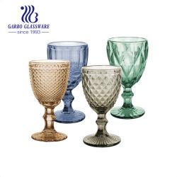 كوب عصير كأس نبيذ من الساق بلون صلب شعبي ملون مجموعة من الكؤوس مع أواني سيف GB041510zs-DDA