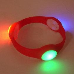 LED de Silicone coloridos OEM pulseiras intermitente