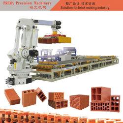 中国の赤い粘土の煉瓦スタック・マシンの煉瓦ロボット