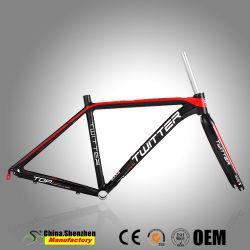 El aluminio AL7005 Bicicletas de carreras el bastidor con horquilla de carbono T800