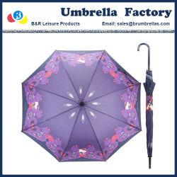 De bevallige Vrouwelijke Paraplu's van de Zon van de Regen met Lang Handvat door Digitaal