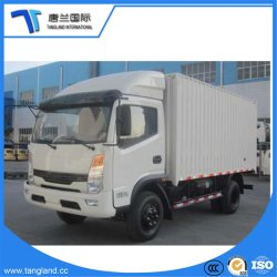 China, das neues Wheel Cargo Van Box Truck 4X2 verkauft