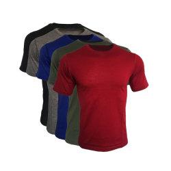 T-shirt van de Sport van de Koker van de merinos van het Overhemd Openlucht Wandelende Kamperende Australische Lichtgewicht MerinosMensen van de Wol Basis de Korte