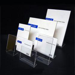 Различных размеров четкие L акриловый дисплей, держатель меню