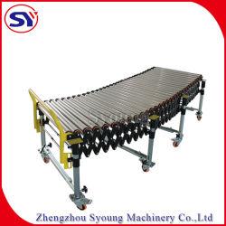 Gire a la Curve Zinc-Plated estirar la tabla de transportadores de rodillos para el envasado de montar las piezas