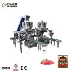 Linea di produzione d'inscatolamento automatica dell'imballaggio del macchinario dell'alimento bagnato del macchinario di trattamento scatola della carne rossa del gambero del gatto dell'animale domestico