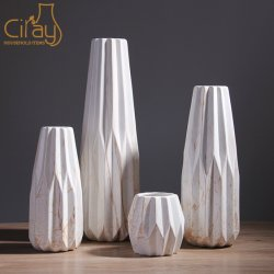 Estilo nórdico vaso de porcelana e cerâmica ornamentais com cor de Mármore