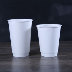리플 월/더블 월/싱글 월 일회용 커피 종이 컵