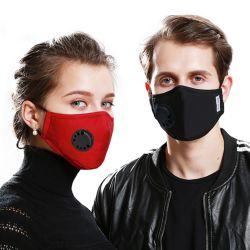 Maschera di protezione respirante della Anti-Polvere della valvola Pm2.5 della mascherina del respiratore del tessuto della mascherina della mascherina lavabile riutilizzabile del cotone con il filtro sostituibile unisex