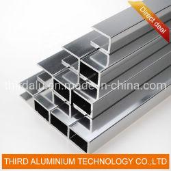 Perfil de Aluminio de las Formas de Extrusión del Canal Doble de Aluminio de los Proveedores de China para la Ventana de Cristal