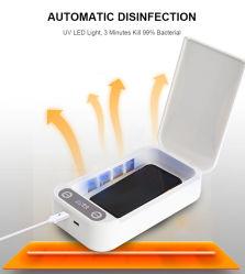 De draagbare UVDoos van de Sterilisator van de Telefoon van de Sterilisator Lichte Slimme UVC Lamp met Doden 99% van Disinfector van de Functie Aromatherapy Bateria
