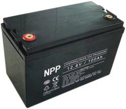 太陽エネルギーシステム、UPSの電動車椅子、スクーター、李イオン、UPSの電気自転車、電気手段、EのバイクのためのNpp 12V100ahのリチウムイオンLiFePO4電池のパック