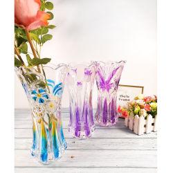 Дешевые оптовые фантазии элегантный прозрачный цвет с маркировкой цветов растений вазы из стекла для1569LBX Homedecoration (ГБ)