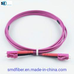 Les équipements de télécommunications cordon de raccordement du câble à fibre optique LC à LC Duplex Om4 Cordon de raccordement