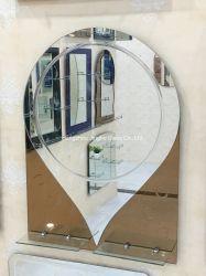 Hotel Venta caliente de doble capa única de diseño CUARTO DE BAÑO MUEBLES de tocador de estante de cristal de Espejo Espejo para la decoración del hogar