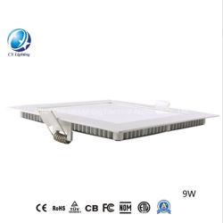 도매 가격 LED 패널 라이트 6W 9W 12W 15W 18W 24W 원형 및 사각형 평면 Ulter 씬 매입형 램프 LED 조명
