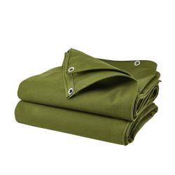 Kundenspezifisches Heavy-Duty Industrial Outdoor schwer entflammbares dickes wasserdichtes und reißfestes Polyester Silikon Baumwolle Segeltuch Plane Rolle für LKW-Abdeckung