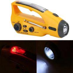 Facotry 2021 Hot Selling lampada portatile a energia solare con AM Radio FM Automobile manovella Dynamo & USB Caricabatterie e. Sirena