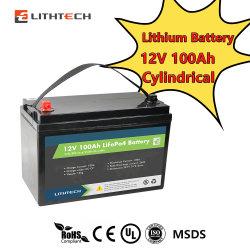 مجموعة بطارية Lithtech Deep Cycle Lithium Lithium Lithium Lith4 Solar قابلة لإعادة الشحن بطارية ليثيوم أيون 12 فولت بقدرة 100 أمبير/ساعة بجهد 12 فولت وبتقنية Bluetooth® و تدفئة