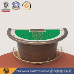 Novo Design meia volta Custom blackjack mesa de pôquer Fabricação Casino Tabela com Chip Poker Standard Ym-Bj02
