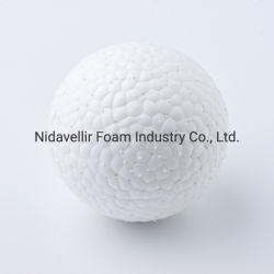 كرة بسيطة للحيوانات الأليفة لعضّ البروتوكات مصنوعة من E-TPU سلسلة Pure White