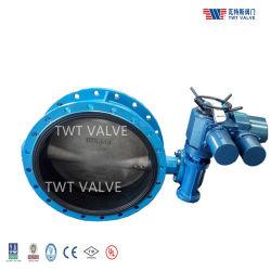 Manuafactoer OEM Manual المشغل الهوائي الهيدروليكي الكهربائي الاستانلس ستيل الحديد بأنبوب حديدي ASME DIN BS JIS رقاقة معدنية صمام فراشة مركّز