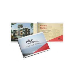 Impressão CMYK brochura dobrada Folheto publicitário um livro A4