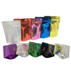 1PCS プリントプラスチック製の密封ジッパーフードパッケージングハイバリアスタンド カラフルなマイラージップロックバッグキャンディスナックミニポーチ
