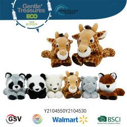 Eco Animals Panda Giraffe Raccoon voor Kid gerecycled zacht pluche En gevulde speelgoed