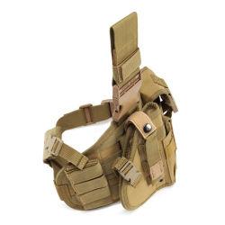 Comercio al por mayor militar táctico multifuncional ventiladores caza Campo de Batalla al aire libre rápido tirando de la combinación de camuflaje Kit Pistola funda.