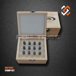 Herramientas de diseño de joyas símbolo de valor de marca de la PAD3003 Juego de punzones de cuero